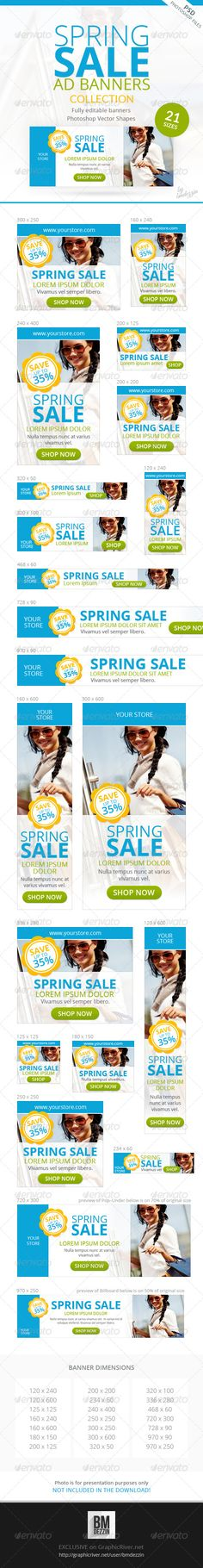 Spring Sale Promotion Web Ad Banners Template PSD   Buy and Download: http://graphicriver.net/item/spring-sale-promotion-web-ad-banners/6959669?WT.ac=category_thumb&WT.z_author=bmdezzin&ref=ksioks