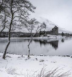 Kilchurn Castle on Loch Awe a winter reflection, Argyll & Bute, Scotland