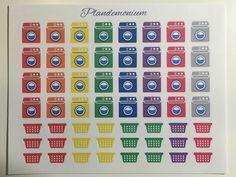 Laundry stickers for Erin Condren Life Planner by Plandemonium