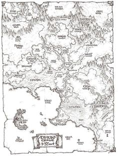 Richard Whitters of Wizards of the Coast lays out his DM worldbuilding toolkit in Behind the Screens: Campaign Backbone. Fantasy Map Making, Fantasy World Map, Fantasy City, Fantasy Rpg, Old Maps, Antique Maps, Vintage Maps, Maps Design, Design Poster