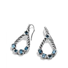 Confetti Drop Earrings with Blue Topaz and Hampton Blue Topaz