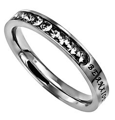 "Princess Ring ""Be Anxious For Nothing"" on SonGear.com - Christian Shirts, Jewelry"