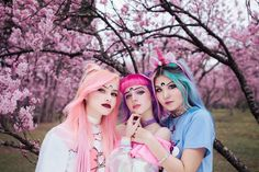 Different Hair Colors, Alternative Hair, Dream Hair, Cute Hairstyles, Are You Happy, Purple, Pink, Hair Beauty, Costumes