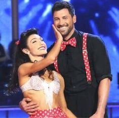 "Maks Chmerkovskiy & Meryl Davis danced the swing to Big Bad Voodoo Daddy's ""Big and Bad"" - Dancing With the Stars - week 2 - season 18 - spring 2014 - score 8+9+8= 25 of 30 possible points"
