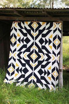 Free Pattern - Bravo Indigo Quilt by Caroline Greco