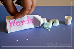 Great craft/object lessons about our words, even though a little messy. :)