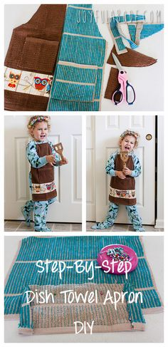 Make a kid's apron from Dollar Store towels.