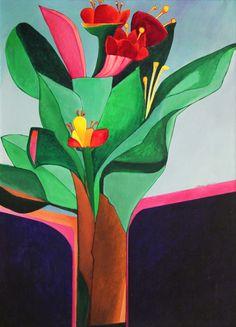 Arte,Aldemir Martins,Pinturas,Natureza morta com flores,Blog do Mesquita www.mesquita.blog.br