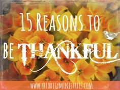 In honor of Thanksgiving, here is a list of 15 reasons to be thankful along with 22 great scriptures that will inspire you to praise God and give Him thanks for all He has done. Be Thankful … Thanking God Scriptures, Thanksgiving Scriptures, Christian Women Blogs, Childrens Sermons, Christian Devotions, Women's Ministry, Ministry Ideas, Crafts For Girls, Great Words