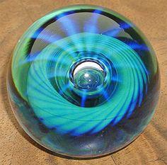 Seegers & Fein Glass paperweight