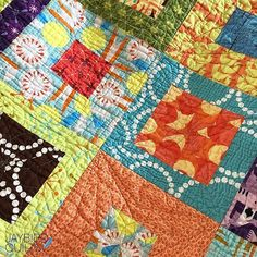 A close up of my Box of Chocolates quilt that features som…   Flickr