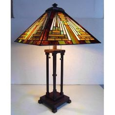 Mission gold tiffany style table lamp with night light mission gold tiffany style table lamp with night light 55downingstreet art deco y art nouveau pinterest tiffany aloadofball Gallery