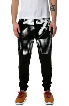 KITE Pants The Houndstooth Jogger Pants in Black