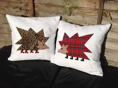 Spiky hedgehogs in love series of pillow throw / cushion covers