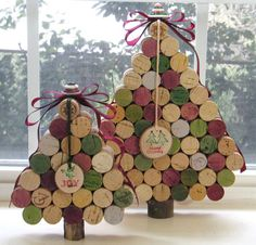 DIY with recycled corks...make cork trees