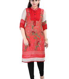 Buy Festive Designer Faux Crepe Kurti party-wear-kurti online