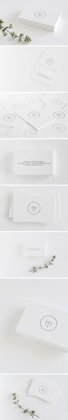 Loving the minimalism approach on this one! Clean cut business cards