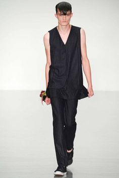 Matthew Miller Spring 2015 Menswear Collection pinstripe the new modernity