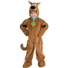 Scooby Doo Boys Kids Child Size Cartoon Dog Plush Jumpsuit Costume