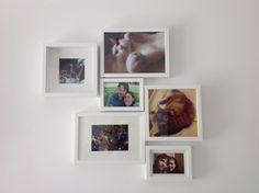Le prime foto della famiglia con collage di cornici!vi piace?!