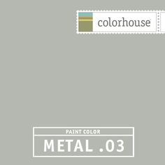 Colorhouse METAL .03 - Our coolest gray yet. Like the soft wisp of a feather. Pair with a steel blue velvet sofa and take cool to the next level.
