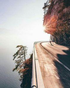 Spectacular photo, don't skateboard over the edge though. :) #skateboarding on the #edge