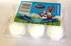 Beacon White Hens Easter Eggs - Pack of 6 Regular size candy coated hollow milk chocolate eggs, 162g #Easter #EasterEggs #Satooz