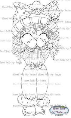 INSTANT DOWNLOAD Digi Stamps Big Eye Big Head Dolls by SherriBaldy