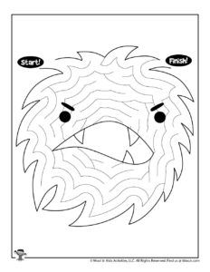 Printable Monster Mazes for Kids   Woo! Jr. Kids Activities : Children's Publishing