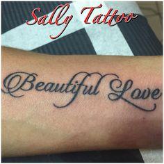 #sallytattoo #beautifullove #letteringtattoo #amorebello