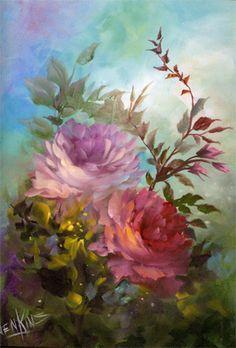 cuadros de flores pintados al oleo - Buscar con Google