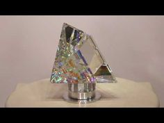 Pyramid Peak - Glass Sculpture by Jack Storms Jack Storms Glass, Glass Art, Sculptures, Crystals, Core, Facebook, Wallpaper, Youtube, Collection