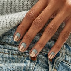 Apr 2020 - Summer Nail Art 685743480746897590 - 44 best nail designs 2019 nail art design ideas short nail art designs simple Source by emelinecmacopine Short Gel Nails, Short Nails Art, Short Nail Manicure, Gold Manicure, Cute Short Nails, Gold Nail Art, Hair And Nails, My Nails, Fall Nails
