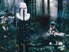 W-Magazinev (sept 2012) spellbound shoot.....Edward Enniful/Steven Meisel, Set design by Mary Howard