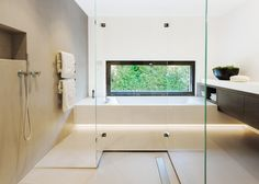 Object 336 - beautiful blackbox by meier architekten zurich. Browse inspirational photos of modern bathrooms. Bathroom Design Inspiration, Bad Inspiration, Beige Bathroom, Bathroom Wall Decor, Suiza Zurich, Modern Bathroom Lighting, Small Space Bathroom, Bathroom Pictures, Luxury Bath