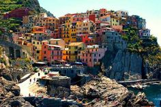 Cinque Terre, Italy | 17 Impossibly Colorful Cities You'll Want To Visit Immediately