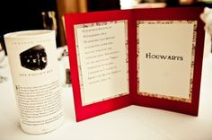 I may be biased, but I do so love a Harry Potter wedding. Allyson and Casey had some awesome details for it: book pages wrapped around candles, tables named after places in the novels, the Sorting Hat, and even a SNITCH CAKE!