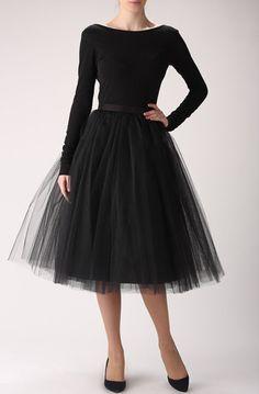 Lovely Clusters - Online Curator : Black tulle skirt, Handmade long skirt, Handmade tutu skirt
