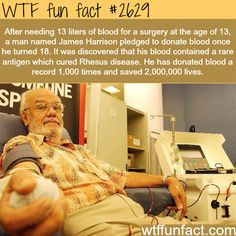 James Harrison, the blood donor who saved millions - WTF fun facts