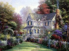 """""""Home Is Where The Heart Is"""" - By: Thomas Kinkade"""