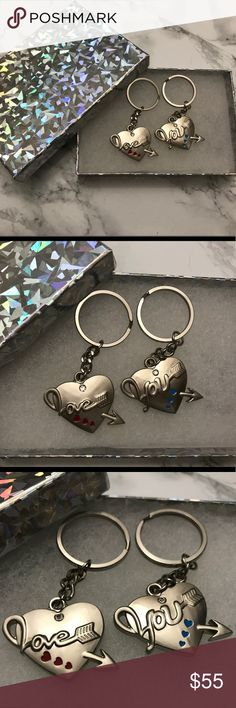 Couples Keychains With Valentine's Day round the corner, this would be a great gift! Beautiful, never used, will come in a gift box. May have very small imperfections, if any! Please ask me before purchase so I can examine and confirm! Accessories Key & Card Holders