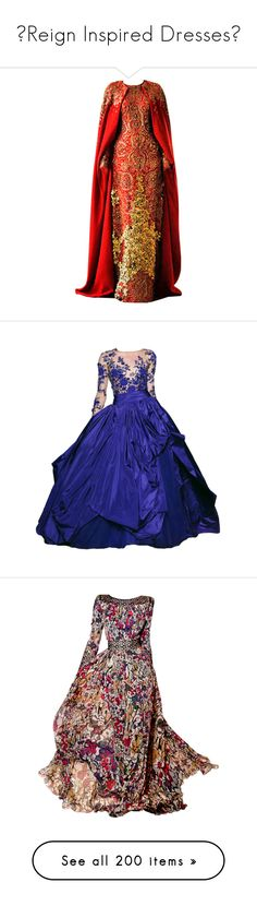 """""""♛Reign Inspired Dresses♛"""" by tvshowobsessed ❤ liked on Polyvore featuring Inspired, dresses, medieval, Reign, gowns, alexander mcqueen, vestidos, alexander mcqueen dresses, red gown and red ball gown"""