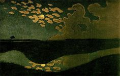 Clair de lune: Felix Vallotton; great composition, abstraction, jewellike color a limited palette