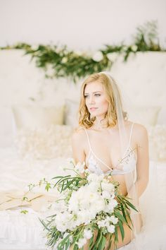 Photography: Retrospect Images - retrospectimages.com  Read More: http://www.stylemepretty.com/california-weddings/2015/05/12/romantic-luminous-bridal-boudoir-session/