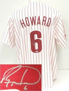 Ryan Howard Signed Philadelphia Phillies Majestic White Jersey PSA/DNA