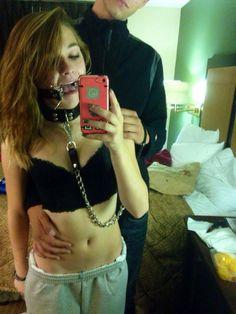Gagged selfie