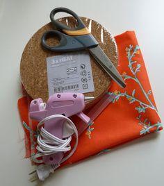IKEA Hack: Fabric Covered Cork Board Tutorial