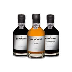 Churchill's Port Experience - A trio of Churchill's Port miniatures comprising of White Port, Tawny Port and Reserve Port. Whiskey Drinks, Whiskey Bottle, Creative Gourmet, Wine Safari, Wine Tasting Experience, Spiritus, Port Wine, Gifts For Wine Lovers, 10 Years