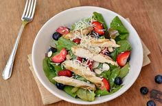 Berry Almond Salad with Chicken - like Wendy's - haven't made the raspberry vinaigrette yet, but it sounds good. Wendy's salad is awesome!!