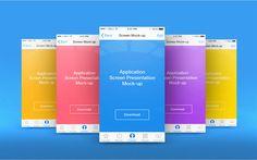 App Screen Presentation Mock-ups PSD